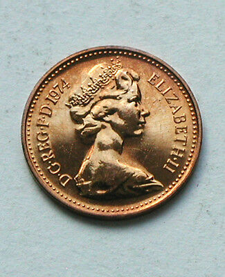 1974 UK (British) Elizabeth II Coin - Half Penny (1/2d) BU UNC (from mint set)
