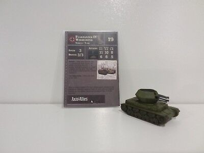 """Axis & Allies Miniatures Contested Skies Flakpanzer IV Wirbelwind 29/45 """"RARE"""""""