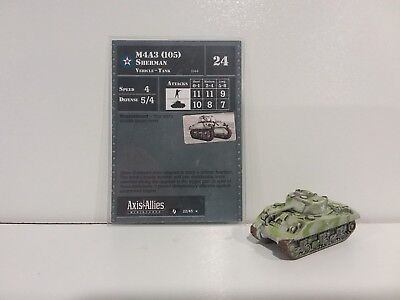 """Axis & Allies Miniatures Contested Skies M4A3 (105) Sherman 22/45 """"RARE"""""""