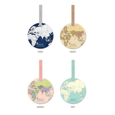Round World Map Luggage Tag Travel Backpack Suitcase Case Name ID Label Holiday