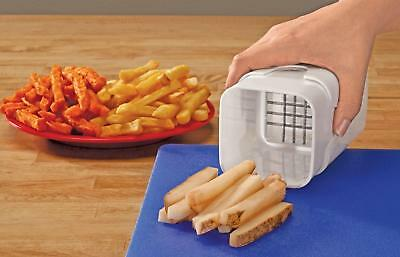White Durable Perfect Fries One Step Natural French Fry Potato Fruit Cutter New