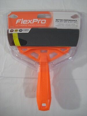 New FlexPro Ultimate Hand Sander w/ 3 Sanding Sheets 100 150 & 240 Grit Included