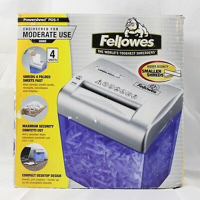 Fellows PowerShred PDS-1 Compact Desktop Shredder Confetti Cut BRAND NEW