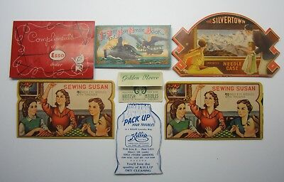 Vintage 1930-40's Sewing Needle Packets Lot of 7 * Germany, England, Japan, US