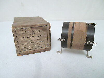AIR KING RADIO FREQUENCY COIL 1920's BATTERY TUBE RADIO PART