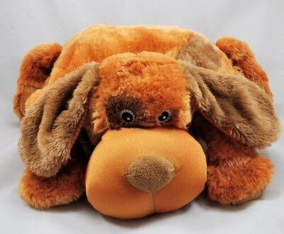 Zoobie Pets Brown Puppy Dog Pillow w/ Blanket Packable Travel Nap Time Plush