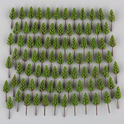 US 100pcs Model Pine Trees Deep Green For N Z Scale Building Street Layout 38mm