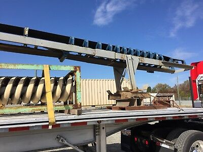"Conveyor 18"" x  50' , telescoping stacking conveyor, with wheels, 5 yard hopper."