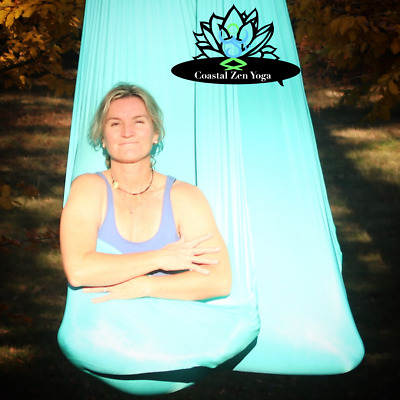 Aerial-Hammock ,Yoga ,Pilates ,Fitness ,Inversion Swing , Yoga Hammock -Aqua