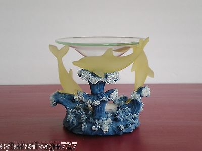 Dolphin Oil Warmer Aromatherapy Warms with Tea light Candle Warms Scented Oils