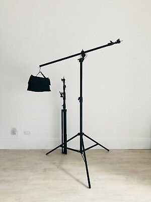Pair Of Xlite Heavy Duty Boom Light Lighting Stands With Weight Bags