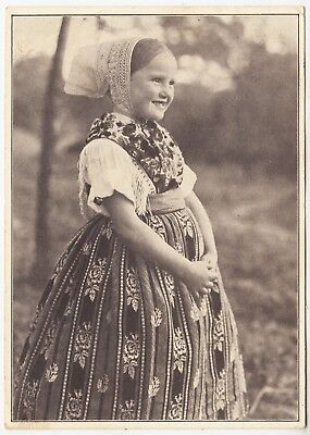 GERMANY - Little Girl In Costume - 1943 used postcard with Hitler Stamp