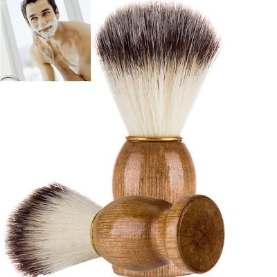 Men Universal Shaving Bear Brush Badger Hair Shave Wood Handle Razor Barber Tool