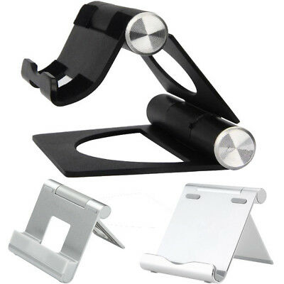 Portable Desk Stand Holder For iPhone/iPad Folding Pivot Cradle For Tablet/Phone