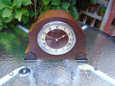Garrard Quality Fully Restored Westminster Quarter Chimes Oak Mantle Clock