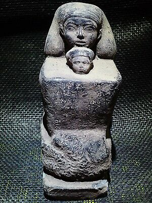 EGYPTIAN ANTIQUES ANTIQUITIES Senenmut With Neferure Block Statue 1473-1458 BCE
