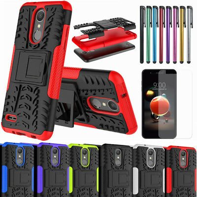 For LG Aristo 2/3/Tribute Dynasty/Tribute Empire/Phoenix 4 Shockproof Stand Case
