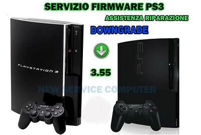 Servizio di Ripristino Downgrade Firmware PS3 3.55 SONY PLAYSTATION 3