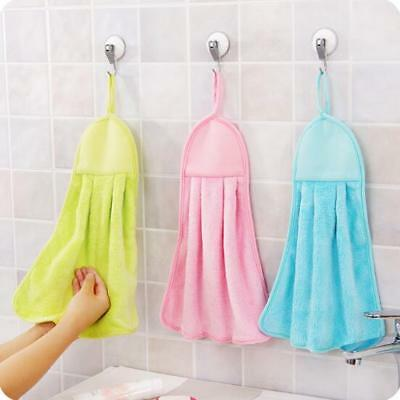 Hand Towel Soft Plush Fabric Kitchen Towels Hanging Wipe Bath Cloth Accessories