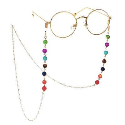 Beaded Eyeglass Chain Cord Reading Glasses Eyewear Spectacles Holder Strap