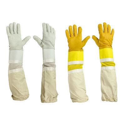 Beekeeping Bee Gloves For Children Kids High Quality Leather White/Yellow Gloves