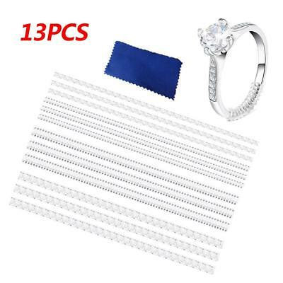 12pcs Ring Size Adjuster Tightener Reducer Resizing Fitter 4 Sizes for Any Rings