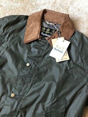 Barbour Ashby Waxed Jacket Original Tartan Olive Mens NWT $399 Lightweight M L