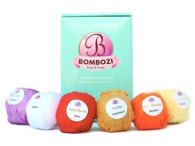 Bath Bombs Gift Set by Bombozi 6 Lush Fizzies Gifts for Women Wife FREE SHIPPING
