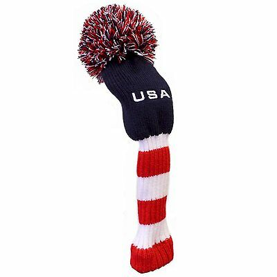 USA Super Pom Pom Golf Club Head Cover (Available in Driver or Fairway/Hybrid)