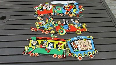 Vintage Disney Wall Plaques~CASEY JR. CIRCUS TRAIN 3 pc Wall Hanging 1950's