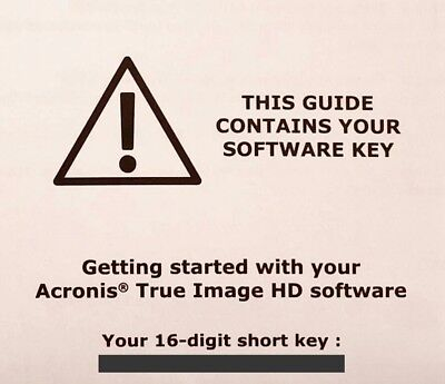 Acronis True Image HD 2018 Backup Cloning Software Activation License Key