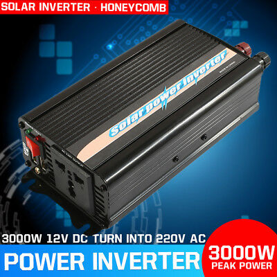 600W-3000W Car Solar Power Inverter 12V DC To 220V AC Sine wave converter + USB