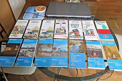 Lot of 14 Vintage Road maps 60's & 70's Standard Oil - Texaco - Sinclair - Enco