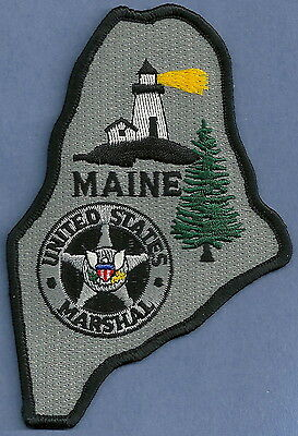 United States Marshal Maine Police Patch State Shaped!