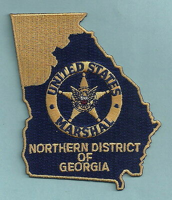 United States Marshal Northern Georgia Police Patch State Shaped!