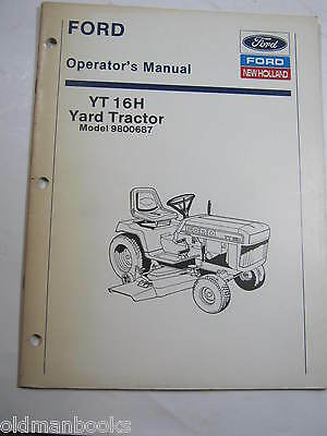 original ford lawn tractors parts manual yt 16h 20 00 picclick rh picclick com Old Ford Tractor Implements Ford YT-16 Wiring-Diagram