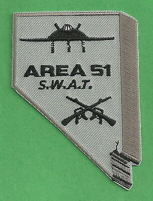 Area 51 Nevada Police Swat Team Patch