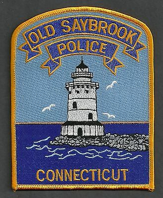 Old Saybrook Connecticut Police Patch Lighthouse!