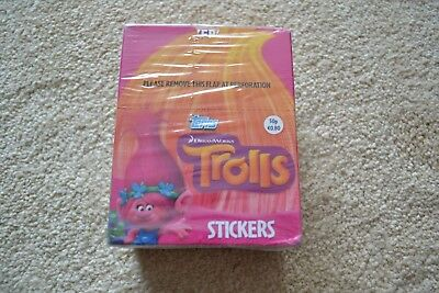 Topps Dreamworks TROLLS Stickers 50 Packs **SEALED**