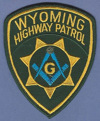 Wyoming Highway Patrol Police Masonic Lodge Patch