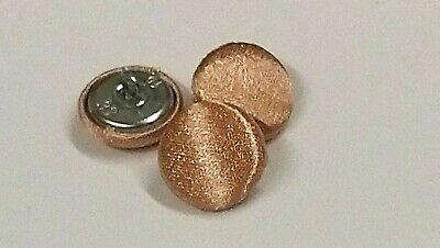 Rose Gold Shimmer Satin Fabric Buttons, 16mm, 20mm, 25mm, Small, Medium & Large