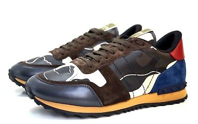 fef60cdb4e6d VALENTINO  GARAVANI  Rockrunner leather and suede trainers - Size 43 ...