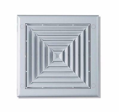 Ceiling Air Vent Grille 190mm x 190mm with 100mm Duct Pipe / Hose Connection TS3
