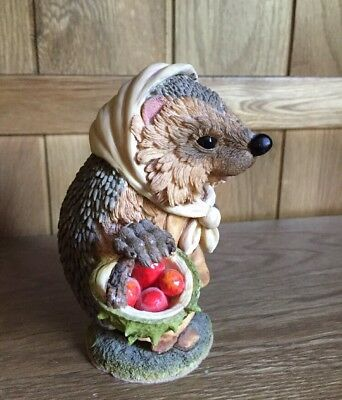 Vintage Country Artists Hedgies Hedgehog Carrying A Basket Of Apples