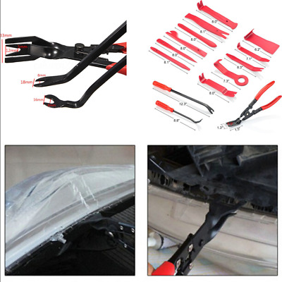 19Pcs Auto Upholstery Fastener Tools Clip Plier Set Trim and Panel Removal Tool