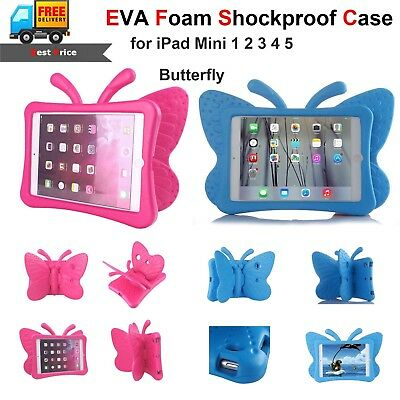 Butterfly EVA Foam Shockproof Kids Case Cover Stand Handle for iPad Mini 1 2 3 4