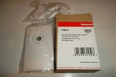 Honeywell Room Temp Sensor Override Button &Led Network Jack TR23