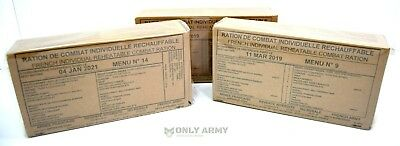 French Army NATO Rations MRE 24 Hour Ration Pack Military Food RCIR New Sealed