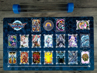 YuGiOh Popular Characters Rule 4 Card Link Zones Playmat TCG Mat Free Best Tube