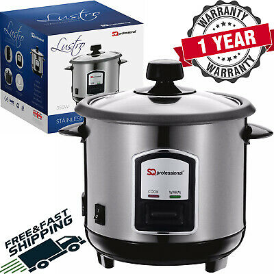 Stainless Steel 0.8L Non-Stick Automatic Electric Rice Cooker Pot Warmer 350W SQ